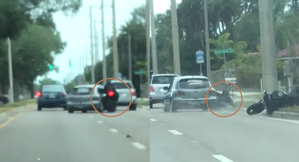Florida Motorist Sideswipes Motorcyclist in Road Rage Incident