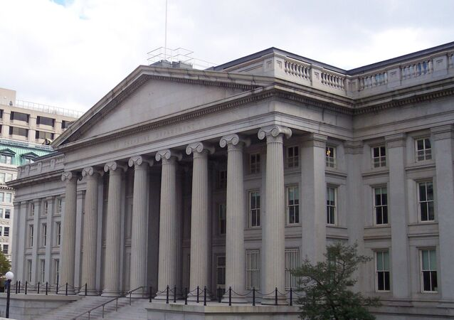 The U.S. Treasury building, Washington D.C.