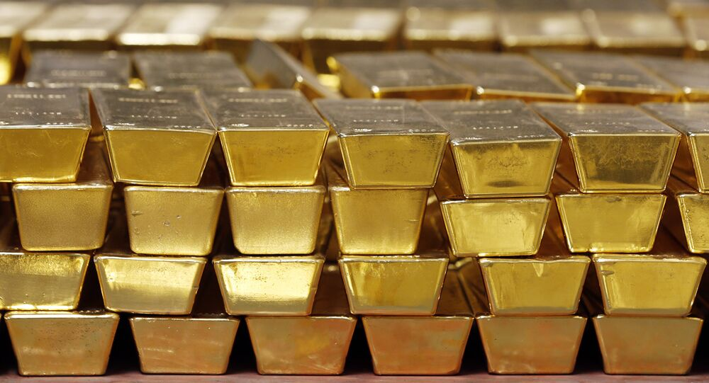 Gold bars, these ones from the US Mint. File photo.