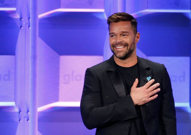 Presenter Ricky Martin speaks at the 29th Annual GLAAD Media Awards in Beverly Hills, California, U.S., April12, 2018