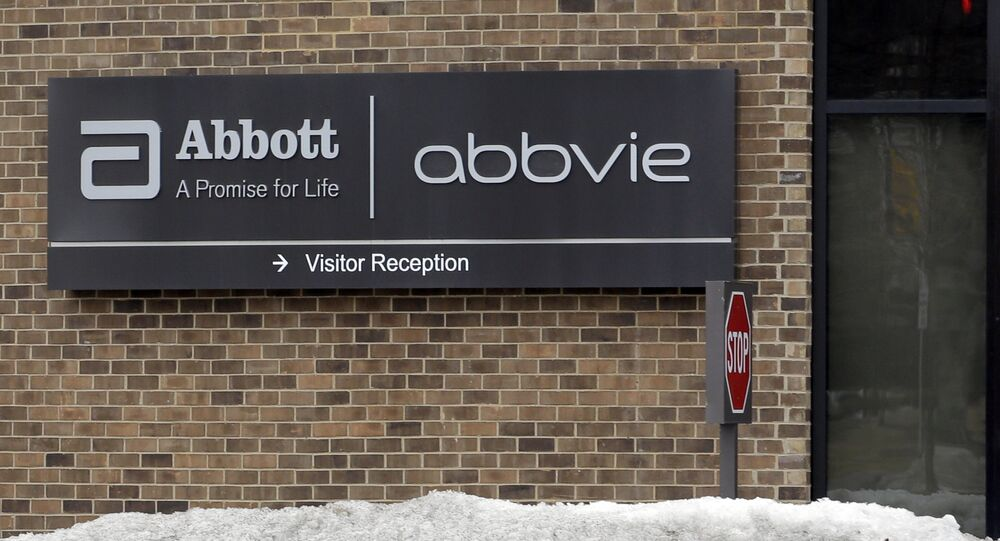 the exterior of biopharmaceutical equity multinational corporation Abbvie, in Lake Bluff, Illinois, US