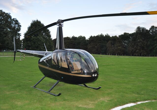 The Robinson R44 helicopter which the gang used to bring in drugs