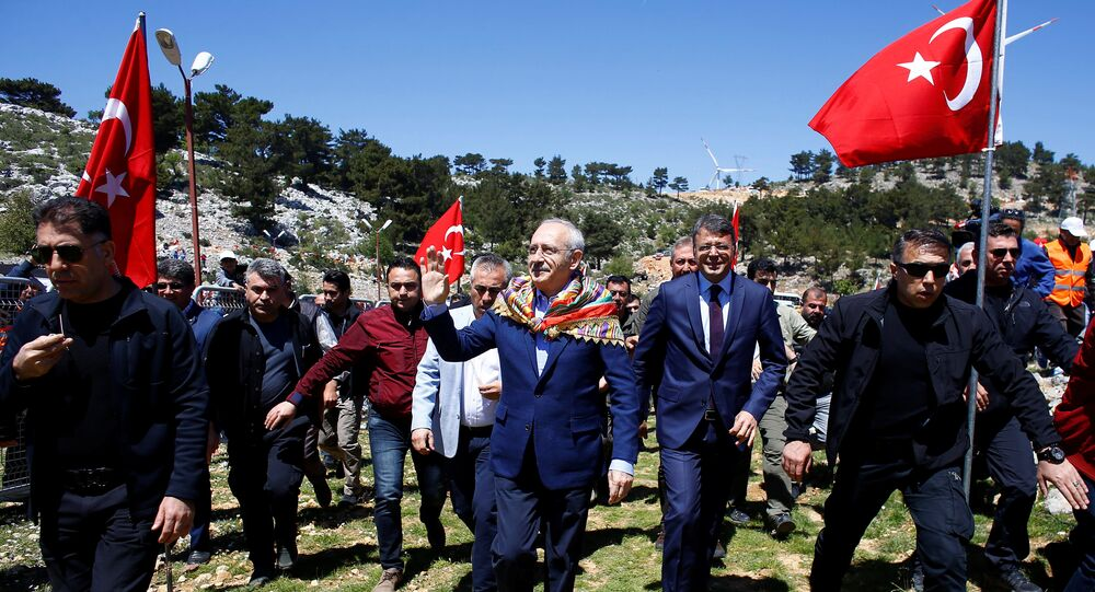 Kemal Kilicdaroglu, leader of Turkey's main opposition Republican People's Party (CHP), arrives at a nomads congress near the southern town of Silifke in Mersin province, Turkey April 22, 2018