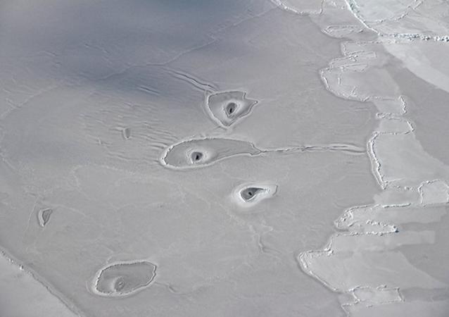 Unexplained holes in arctic sea