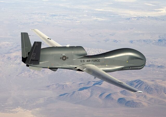 An RQ-4 Global Hawk unmanned aircraft (File)