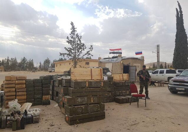 Qalamun: the rich arsenal of terrorists in hands of the syrian army