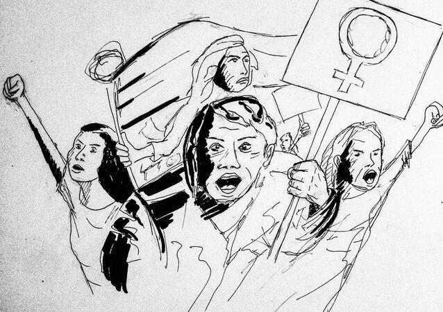 8 mars demonstration, upp till kamp, feminism