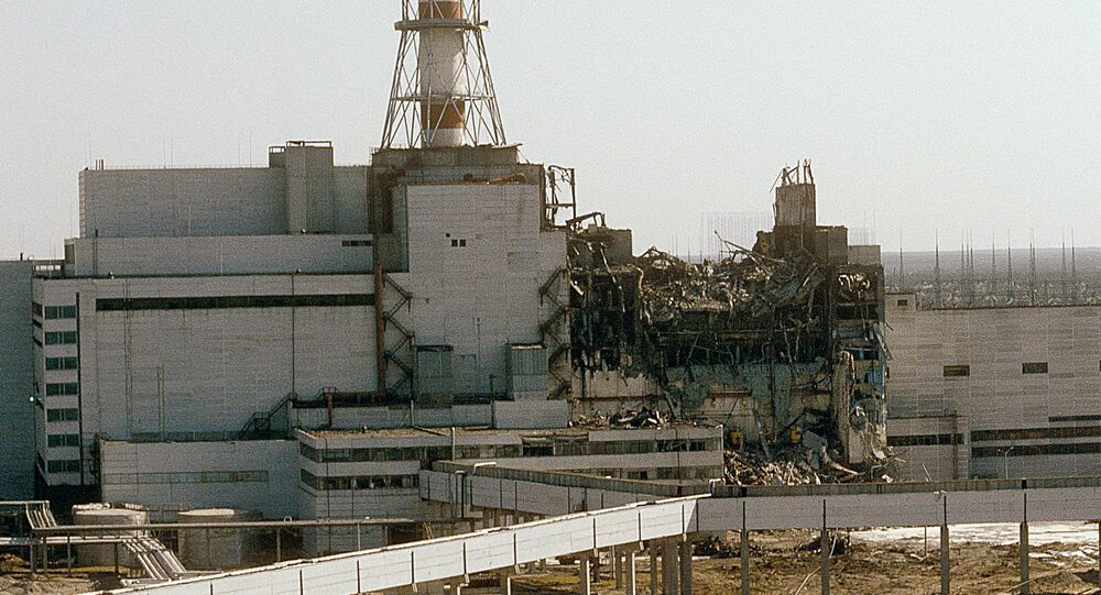 An accident happened at the Chernobyl Nuclear Power Station on April 26, 1986. The Chernobyl electricity plant as seen from the fourth power unit