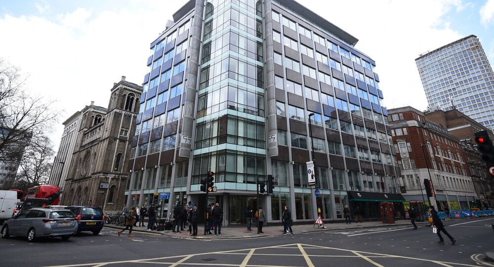 The offices of Cambridge Analytica (CA) in central London, after it was announced that Britain's information commissioner Elizabeth Denham is pursuing a warrant to search Cambridge Analytica's computer servers, 20 March 2018