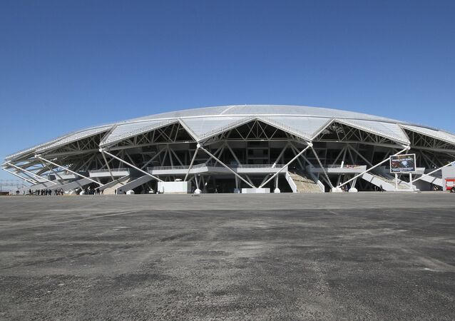 The Samara Arena, a venue for the 2018 FIFA World Cup matches