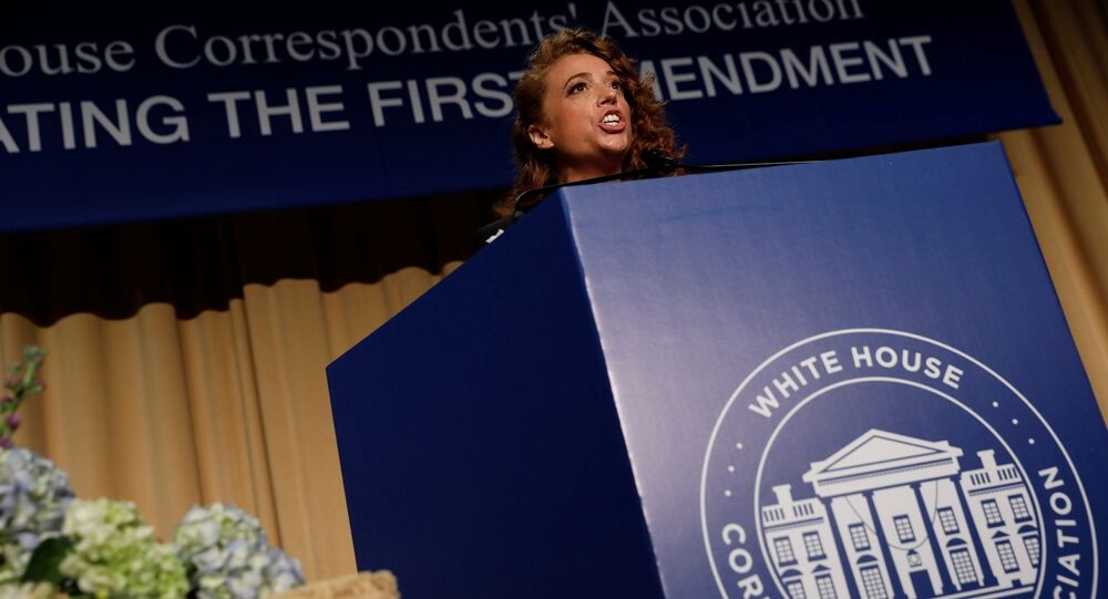 Comedian Michelle Wolf performs at the White House Correspondents' Association dinner in Washington, U.S., April 28, 2018