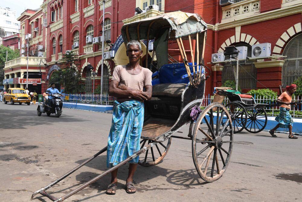 Indian Rickshaw Puller From Kolkata