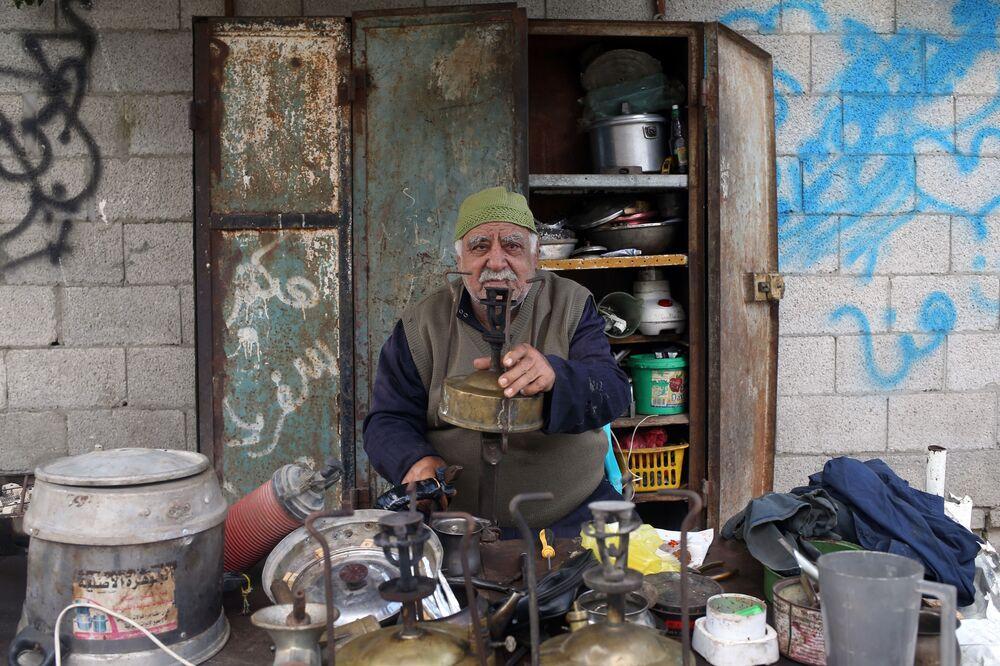 Fixer of Kerosene Cookers in Gaza City