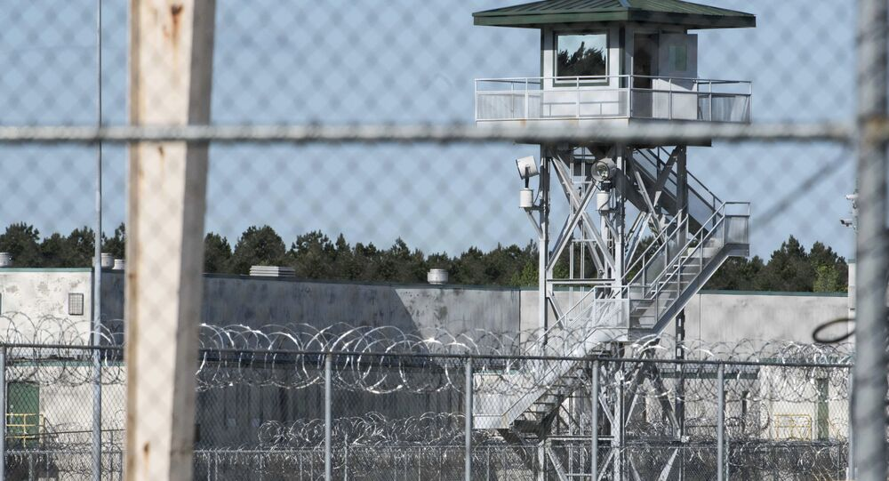 This shows the Lee Correctional Institution on Monday, April 16, 2018, in Bishopville, S.C. Multiple inmates were killed and others seriously injured amid fighting between prisoners inside the maximum security prison in South Carolina.