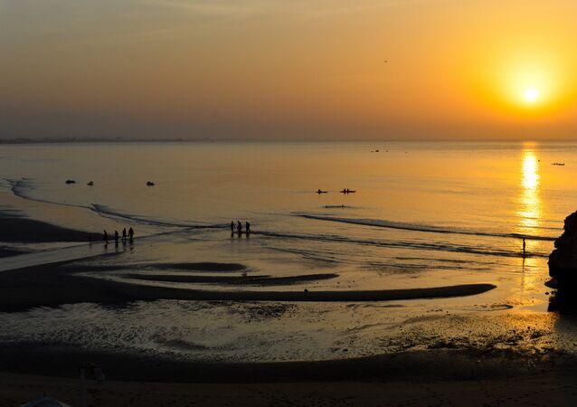 Muscat sunset. Gulf of Oman