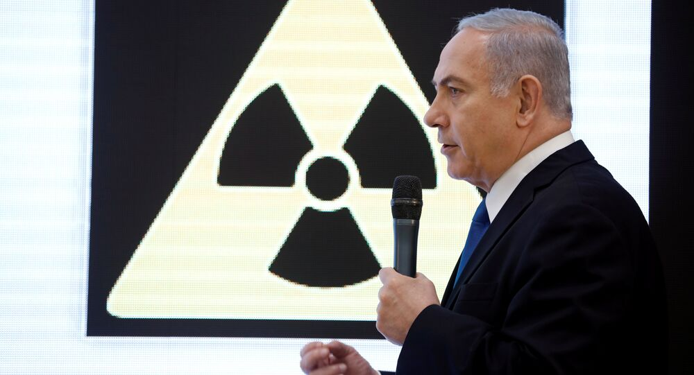 Israeli Prime minister Benjamin Netanyahu speaks during a news conference at the Ministry of Defence in Tel Aviv, Israel, April 30, 2018