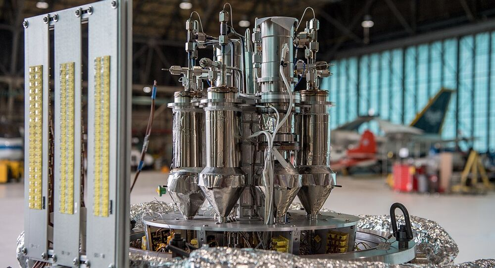 Prototype NASA 1kW Kilopower nuclear reactor for use in space and planet surfaces