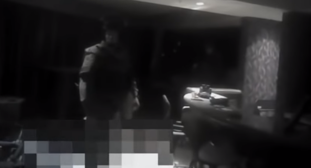 Las Vegas Metropolitan Police Department releases new bodycam footage of officers storming Stephen Paddock's suit on October 1, 2018.
