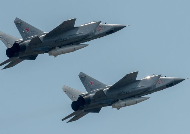 Rehearsal of Victory Day Parade flyovers