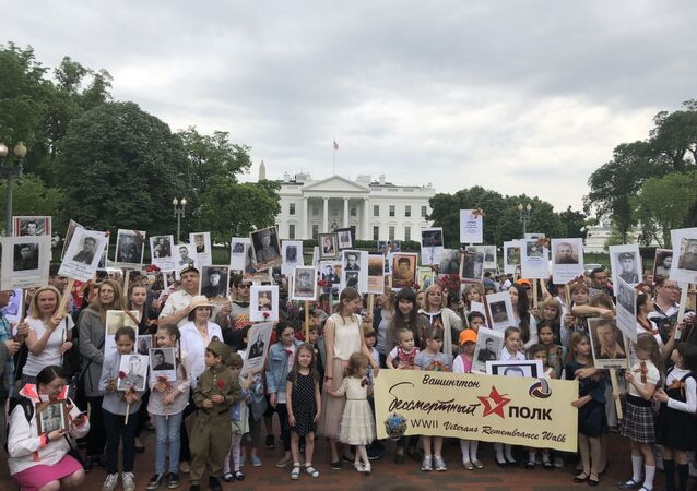 The Immortal Regiment March in Washington, DC took place for the third time.