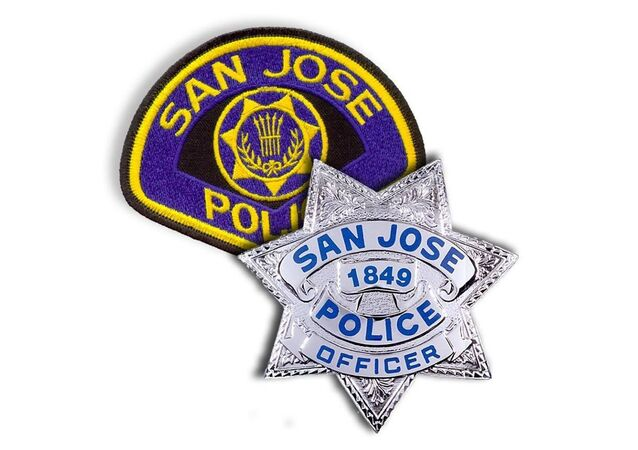 The San Jose Police Department's insignia and badge.