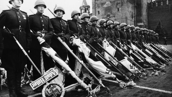 Victory Parade on Red Square on June 24, 1945 marking the defeat of Nazi Germany during WWII (1939-1945) - Sputnik International