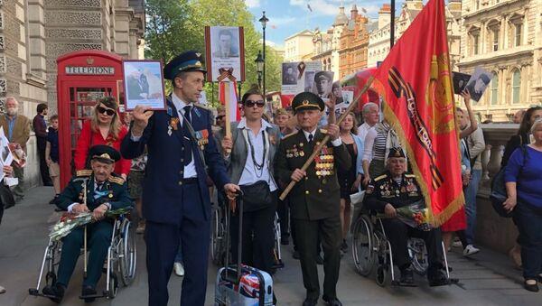 Veterans of World War II commemorate victory over Nazi Germany in London - Sputnik International
