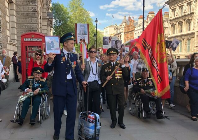 Veterans of World War II commemorate victory over Nazi Germany in London