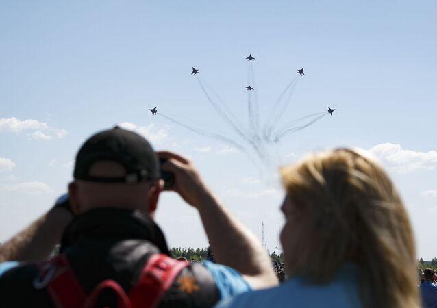 Twelve O'Clock High: Russian Aerobatic Teams Perform Stunts