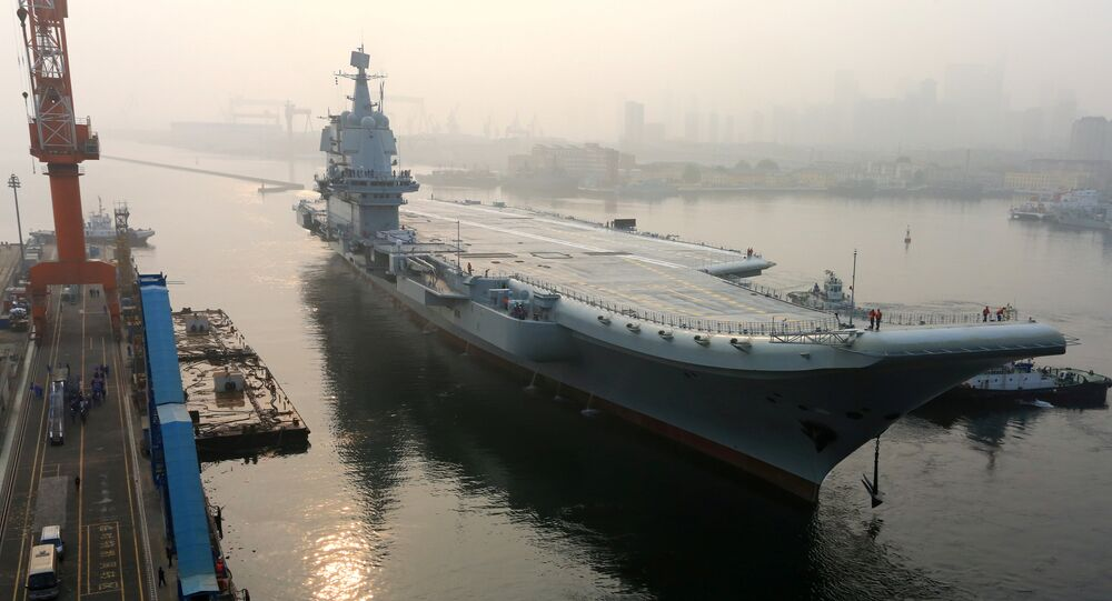 China's first domestically developed aircraft carrier departs Dalian, Liaoning province, China May 13, 2018