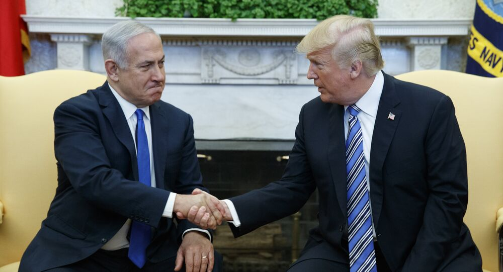President Donald Trump meets with Israeli Prime Minister Benjamin Netanyahu in the Oval Office of the White House, Monday, March 5, 2018, in Washington