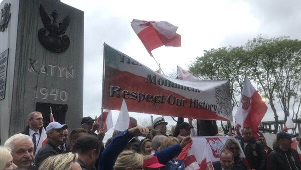 Rally in Jersey City Against Relocation of Katyn Memorial - Sputnik International