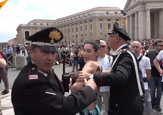 FEMEN Activist Breastfeeds Baby in Alma Mater Protest
