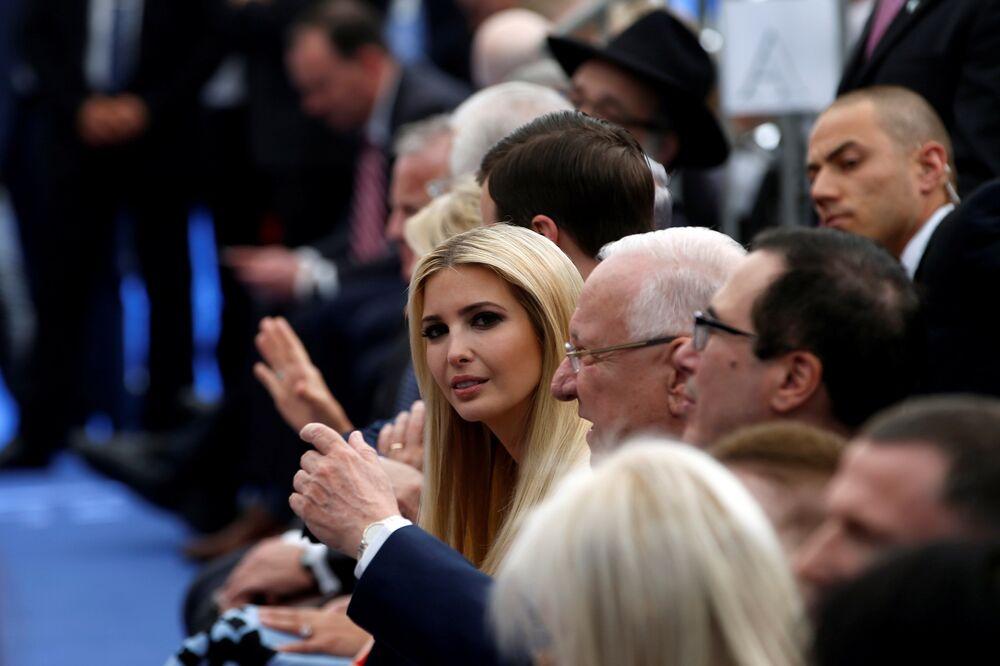White House senior advisor Ivanka Trump is seen ahead of the dedication ceremony of the new U.S. embassy in Jerusalem