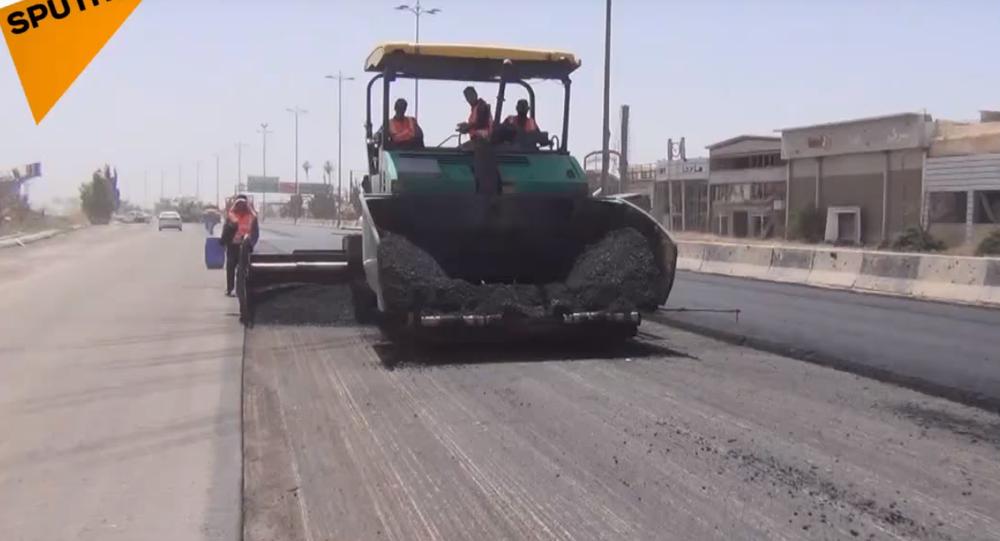 Harasta road restoration.