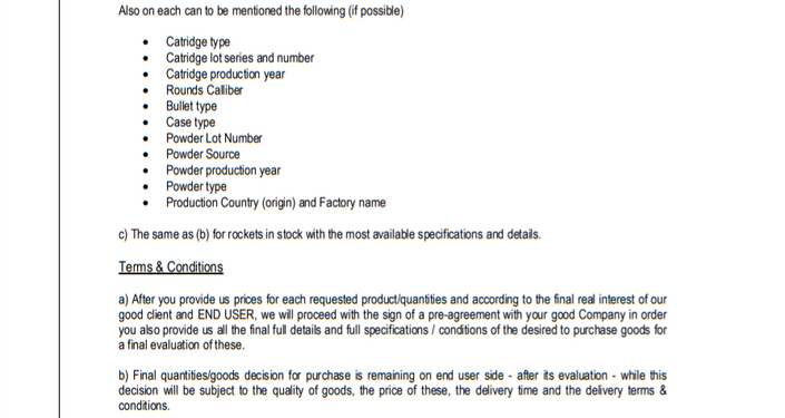 International Armour's leaked letter of interest (LoI) - Page 2 of 3