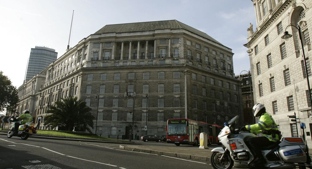 A general view of the headquarters of Britain's internal security service MI5 , in London Friday Nov. 10, 2006