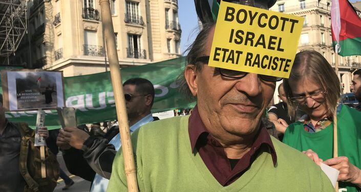 Demonstrators gather in Paris to protest Gaza violence