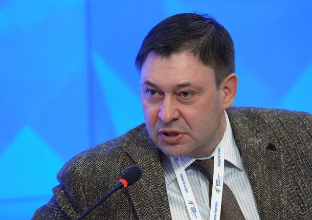 RIA Novosti Ukraine Website Editor-in-Chief Kirill Vyshinsky attends the 2015 Forum of European and Asian Media at the Agency's International Multimedia Press Center