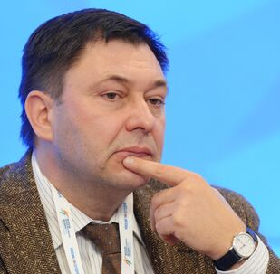 RIA Novosti Ukraine's Editor-in-Chief Kirill Vyshinsky at the 2015 Forum of European and Asian Media (photo from archieve). Kirill Vyshinsky was arrested by the Ukrainian Security Service in Kiev