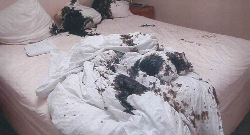 This was the bed in which Mark van Dongen was lying when Berlinah Wallace threw acid on him in 2015