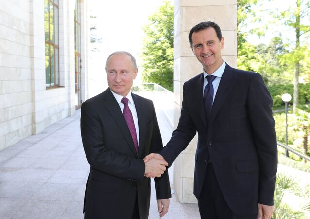 Russian President Vladimir Putin has met with his Syrian counterpart Bashar al-Assad