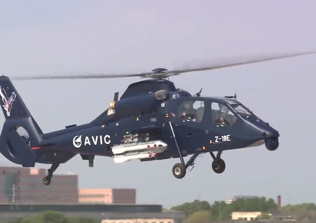China's Z-19E multirole reconnaissance/attack helicopter makes its maiden flight in May, 2017.