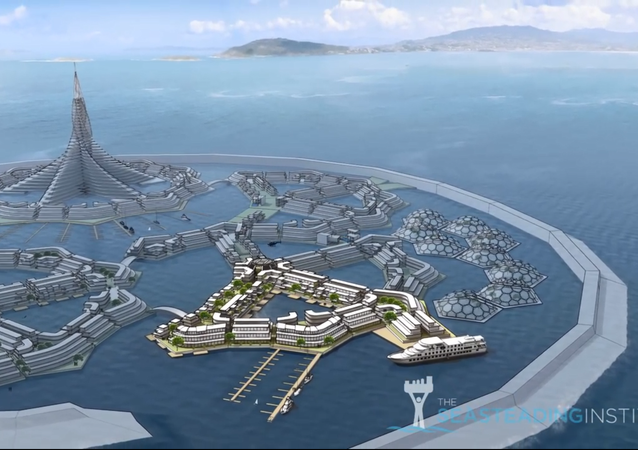 Concept Illustration of Floating City Project by The Seasteading Institute