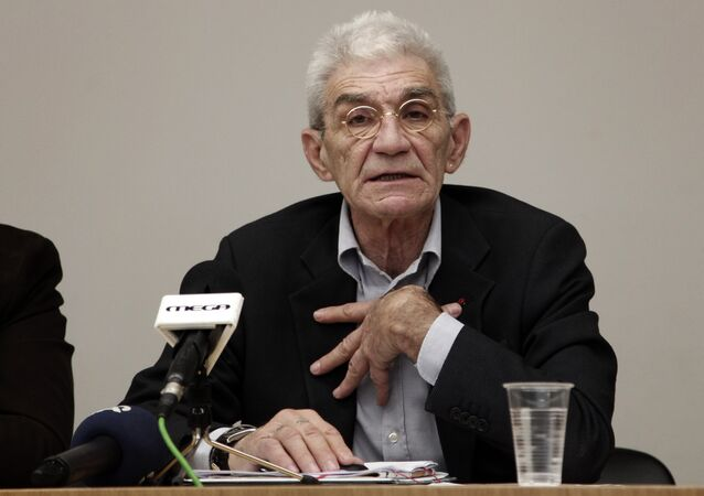(File) Mayor of Thessaloniki, Yiannis Boutaris answers questions during a news conference in Athens, on Tuesday, Dec 4, 2012
