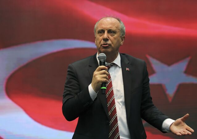 Muharrem Ince, Turkey's main opposition Republican People's Party (CHP) candidate for the upcoming snap presidential election, speaks during a party gathering in Ankara, Turkey, May 4, 2018