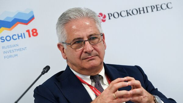 Alexis Rodzianko, President & CEO of AmCham Russia, during a session New economic structure of Russian regions: where are the sources of productivity at the Russian Investment Forum (RIF-2018) in Sochi - Sputnik International