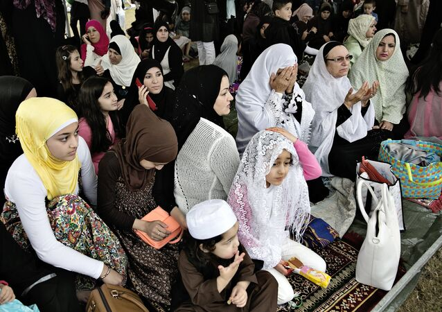 Muslims in Denmark celebrated Eid al-Fitr in Valby, Copenhagen, Thursday, Aug. 8, 2013