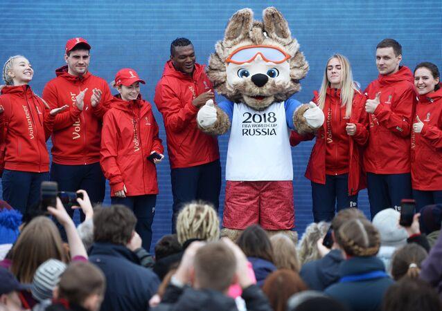 World Cup volunteers in Yekaterinburg