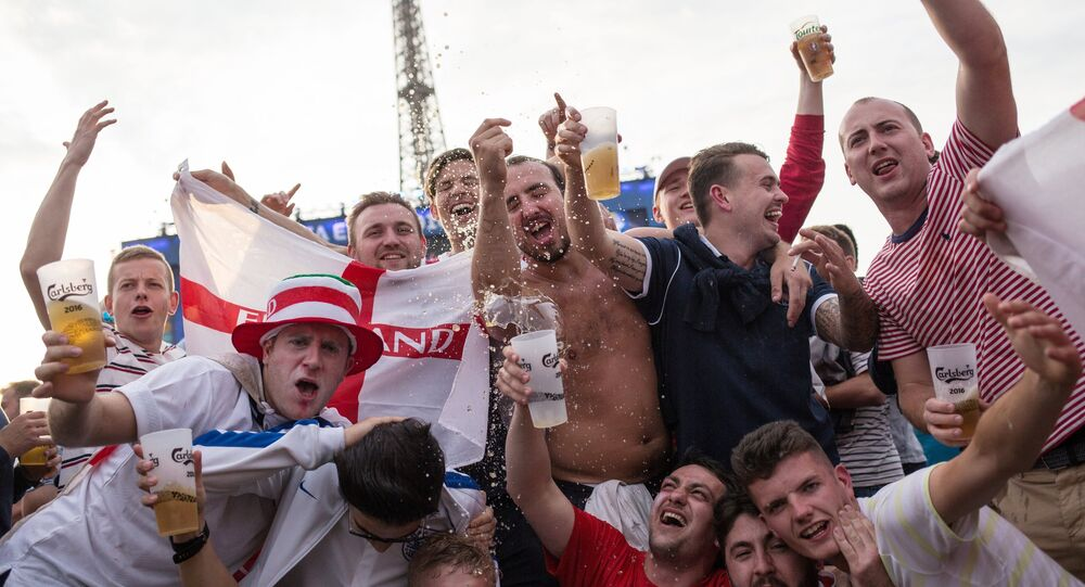 Fans watching a broadcast of the UEFA Euro 2016 group stage match between the English and Russian national teams in Paris. File photo